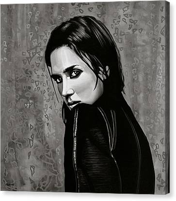 Jennifer Connelly Painting Canvas Print by Paul Meijering