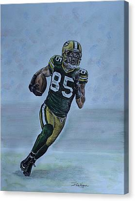 Canvas Print featuring the painting Jennings On The Run by Dan Wagner