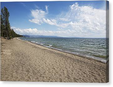 Canvas Print featuring the photograph Yellowstone Lake by Belinda Greb