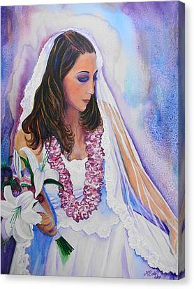 Canvas Print featuring the painting Jenny by Margaret Bobb