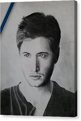 Jensen Ackles Canvas Print by Ajay G
