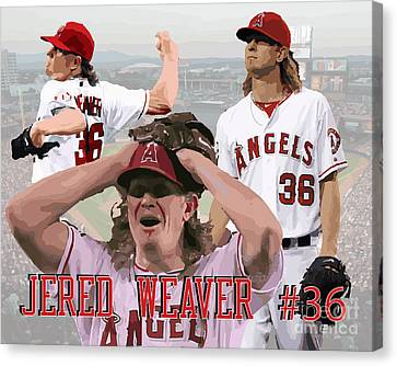 Jered Weaver Canvas Print by Israel Torres