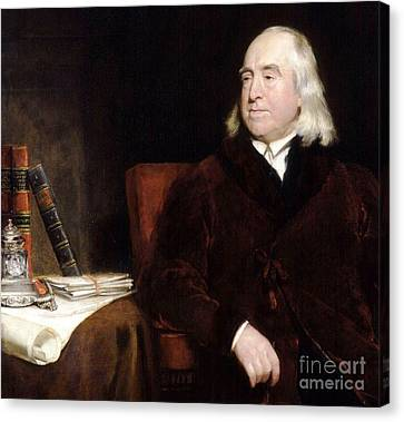 Jeremy Bentham Canvas Print by Pg Reproductions