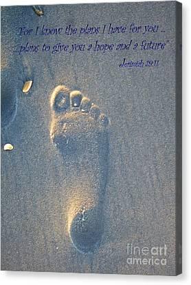 Jeremiah 29 Canvas Print by Jocelyn Stephenson
