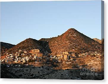 Jerome Arizona At Sunrise Canvas Print by Ron Chilston