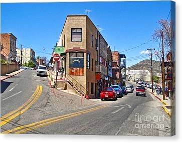 Jerome Arizona - Flatiron Cafe - 01 Canvas Print by Gregory Dyer