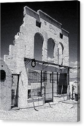 Jerome Arizona - Jailhouse Ruins Canvas Print by Gregory Dyer