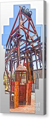 Jerome Arizona - Mine Canvas Print by Gregory Dyer