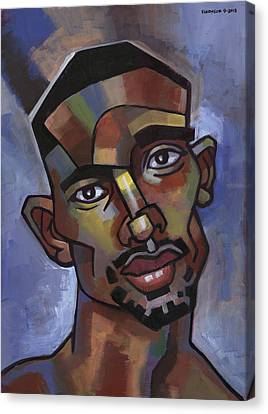 African American Canvas Print - Jerome Has A Good Thought by Douglas Simonson