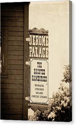Jerome Palace - The Haunted Hamburger Canvas Print by Saija  Lehtonen