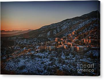 Canvas Print featuring the photograph Jerome Sunrise From Sunshine Hill by Ron Chilston