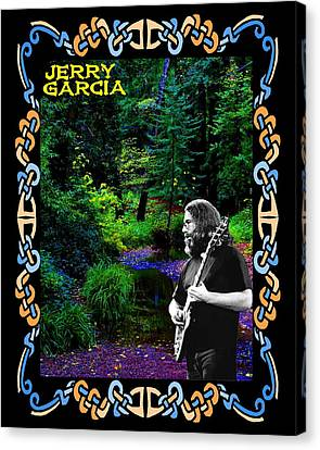 Canvas Print featuring the photograph Jerry At Psychedelic Creek by Ben Upham