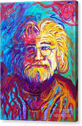 Jerry Garcia 1 Canvas Print by To-Tam Gerwe