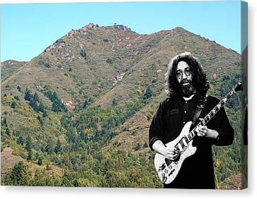 Jerry Garcia And Mount Tamalpais Canvas Print by Ben Upham III