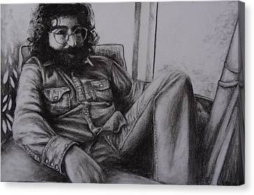 Jerry Garcia In '72   Canvas Print