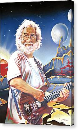 Jerry Garcia Live At The Mars Hotel Canvas Print by Joshua Morton