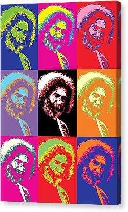 Jerry Garcia Pop Art Collage Canvas Print by Dan Sproul