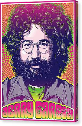 Jerry Garcia Pop Art Canvas Print by Jim Zahniser