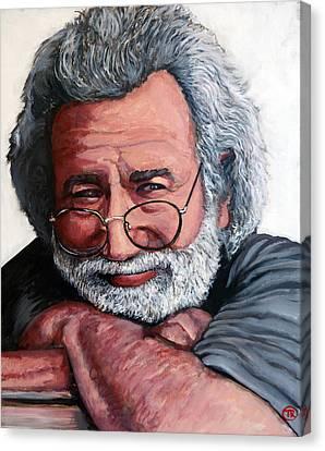 Celebrity Portrait Canvas Print - Jerry Garcia by Tom Roderick