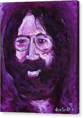 Jerry In Mauve Canvas Print by Jon Griffin