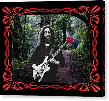Canvas Print featuring the photograph Jerry Road Rose 2 by Ben Upham