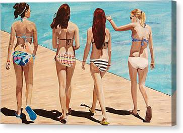 Jersey Girls Point Pleasant Canvas Print by Kevin Callahan