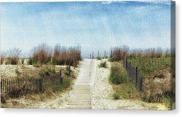 Jersey Shore Canvas Print by Tricia Marchlik