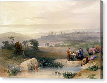 Jerusalem, April 1839 Canvas Print by David Roberts