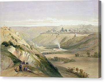 Jerusalem April 5th 1839 Canvas Print