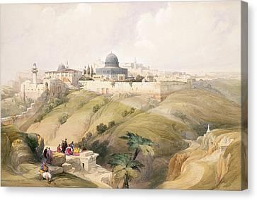 Holy Canvas Print - Jerusalem, April 9th 1839, Plate 16 by David Roberts