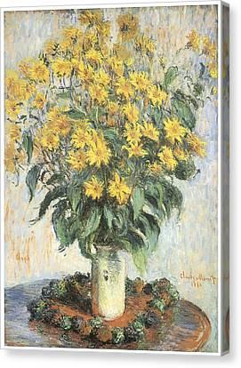 Jerusalem Artichokes Canvas Print by Claude Monet