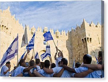Jerusalem Day Canvas Print by Kobby Dagan