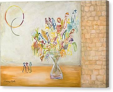 Jerusalem Flowers Canvas Print by Hanna Fluk