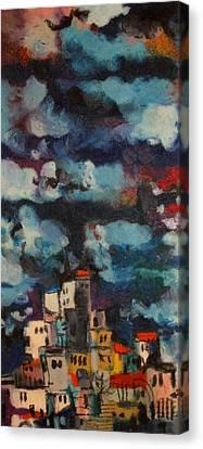 Jerusalem Light Canvas Print by Moshe BenReuven