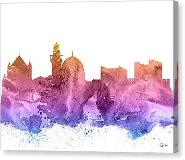 Jerusalem Canvas Print by Watercolor Girl