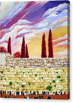 Jerusalem Prayers Canvas Print by Dawnstarstudios
