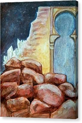 Jerusalem Rocks Canvas Print by Christine Bishop
