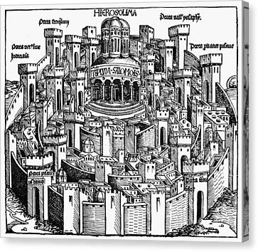 Jerusalem Temple, 1493 Canvas Print by Granger