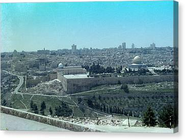 Canvas Print featuring the photograph Jerusalem by Tony Mathews
