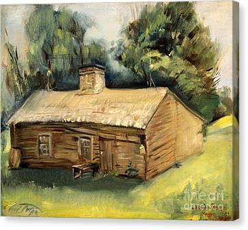 Jesse James Home 1940 Canvas Print