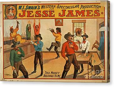 Jesse James Spectacular Production Poster Canvas Print by Edward Fielding