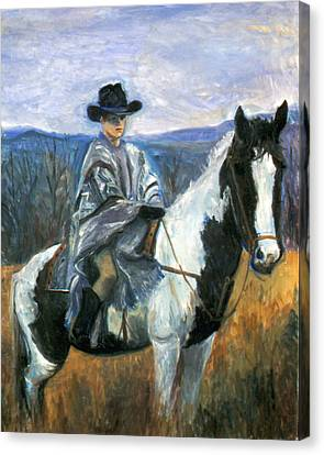 Jesse On Dakota Canvas Print by Ethel Vrana