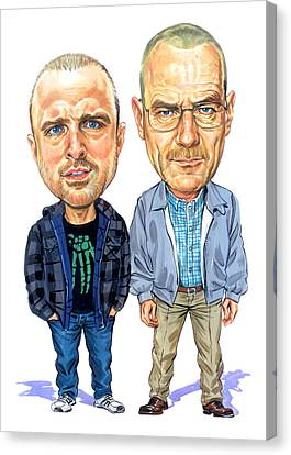 Caricature Canvas Print - Jesse Pinkman And Walter White by Art