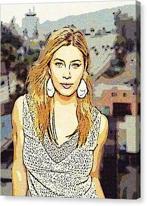 Jessica Biel 2 Canvas Print