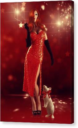 Jessica Rabbit Canvas Print by Cindy Grundsten