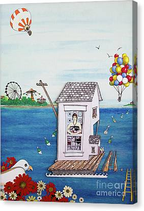 Jessica's Houseboat Canvas Print by Michele Fritz