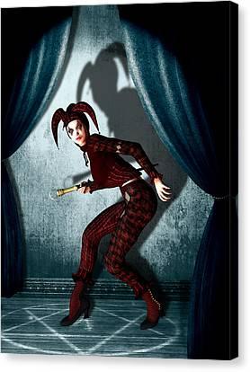 Curtains Canvas Print - Jester by Britta Glodde