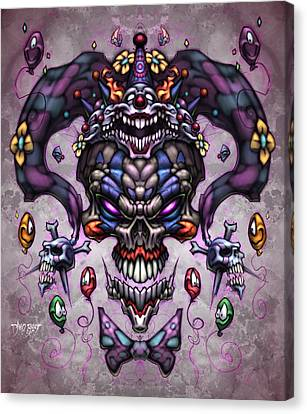 Posse Canvas Print - Jester God by David Bollt