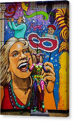 Jester Statue At The Fair Canvas Print by Garry Gay