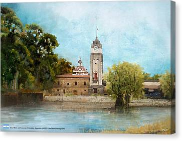 Jesuit Block And Estancias Of Cordoba Canvas Print by Catf
